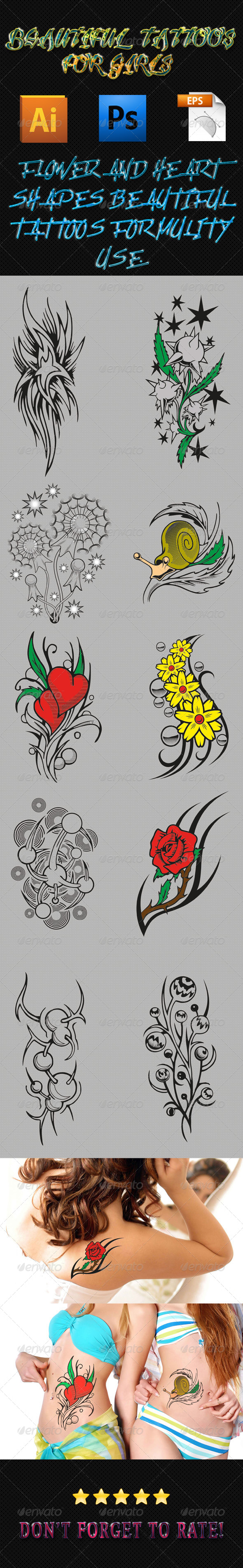 GraphicRiver Girls Tattoos 03 6351095