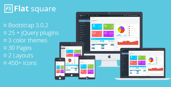 ThemeForest Flat Square Admin Template 6351637