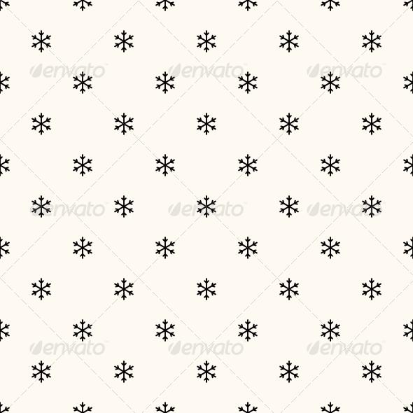 GraphicRiver Vector Seamless Winter Retro Pattern 6351653
