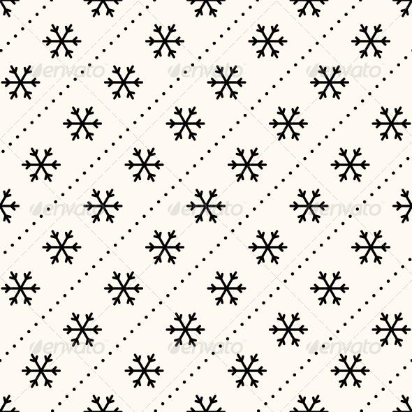 GraphicRiver Vector Seamless Winter Retro Pattern 6351655