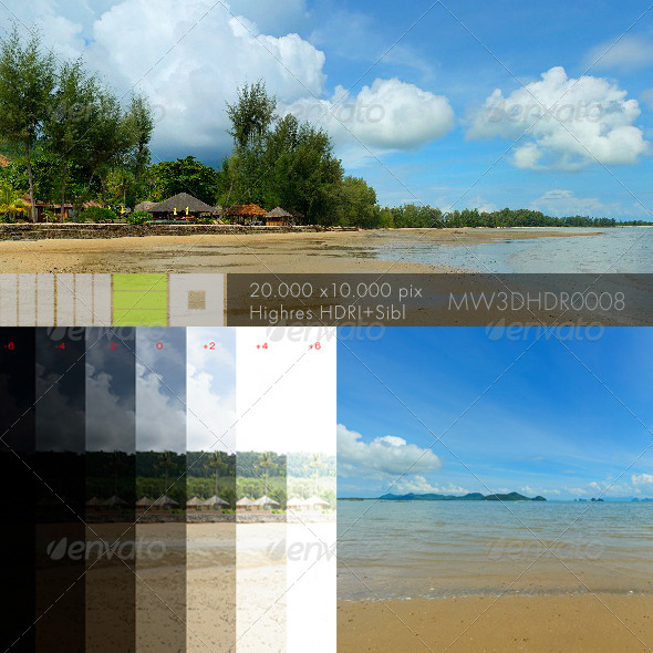 3DOcean MW3DHDR0008 Tropical Beach in Ko Yao Thailand 6351890