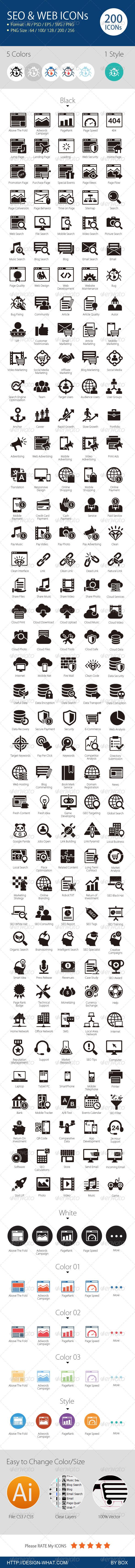 GraphicRiver SEO & Web Icons 6351976