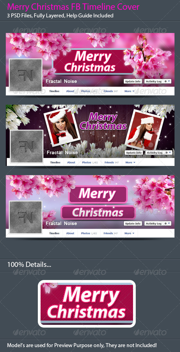 GraphicRiver Merry Christmas FB Timeline Covers 6352054