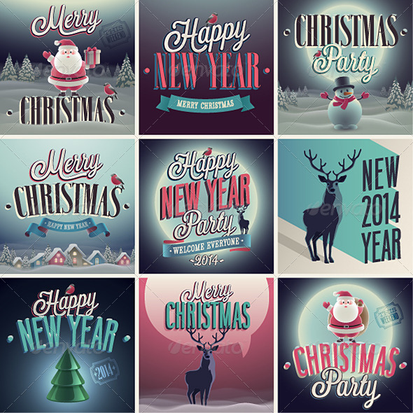GraphicRiver Christmas Set of Labels and Emblems 6352056