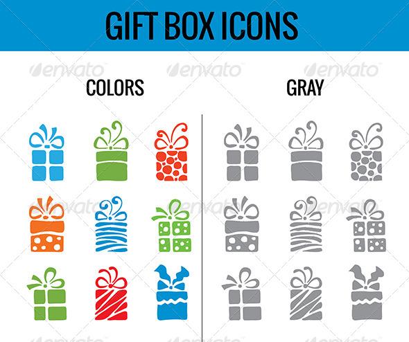 GraphicRiver Gift Box Icon 6352106