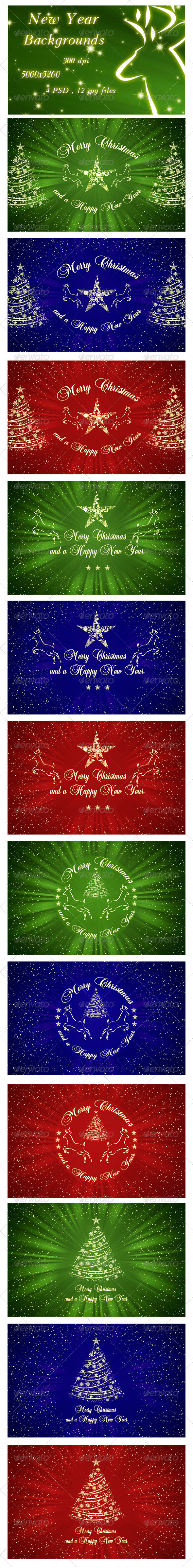 GraphicRiver New Year Backgrounds 6352122