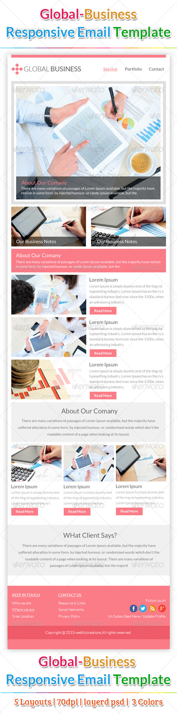 GraphicRiver Global Business Email Template 6352130