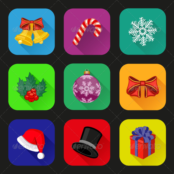 GraphicRiver Holiday Icons Set 6352233
