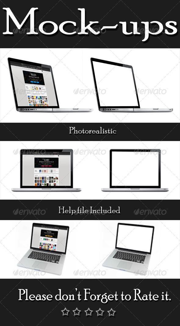 GraphicRiver Laptop Mock-Ups 6352366