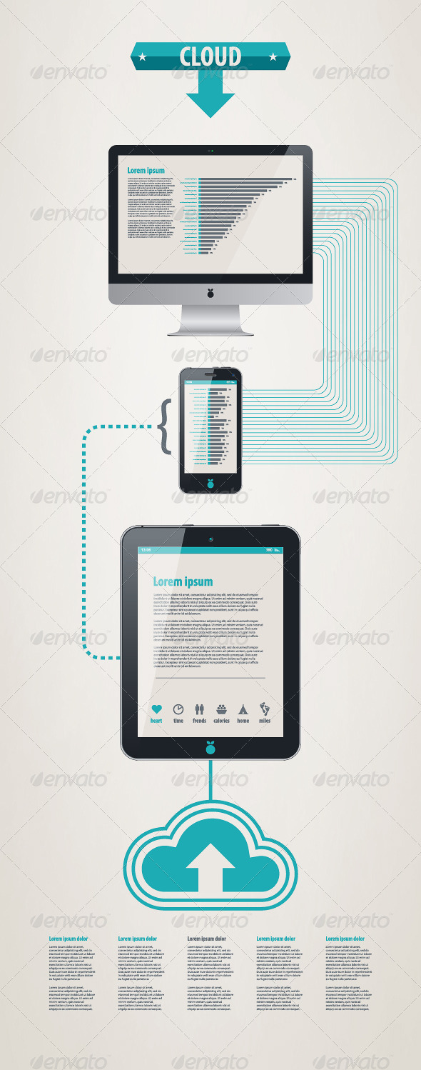 GraphicRiver Element infographics cloud technologies 662167