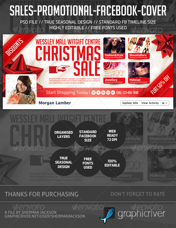 GraphicRiver Sales Promotional FB Cover 6352737