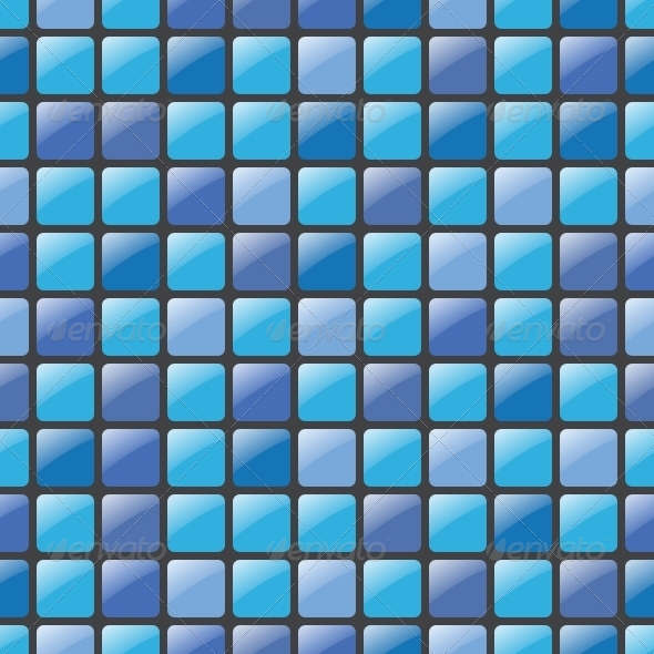 GraphicRiver Blue Mosaic Seamless Vector Pattern 6352748