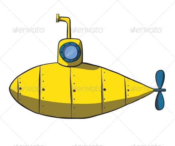 GraphicRiver Cartoon Yellow Submarine 6352752