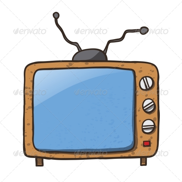 GraphicRiver Cartoon Home Appliances Old TV 6352755