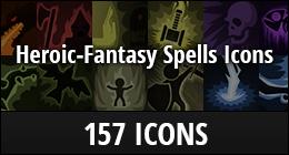 RPG Heroic-Fantasy Spells Icons