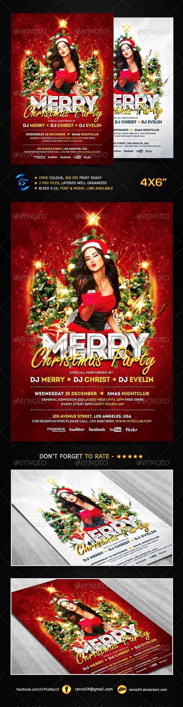 GraphicRiver Merry Christmas Party Flyer Template 6352792