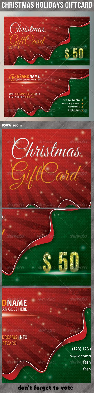GraphicRiver Christmas Holidays Giftcard 6352880