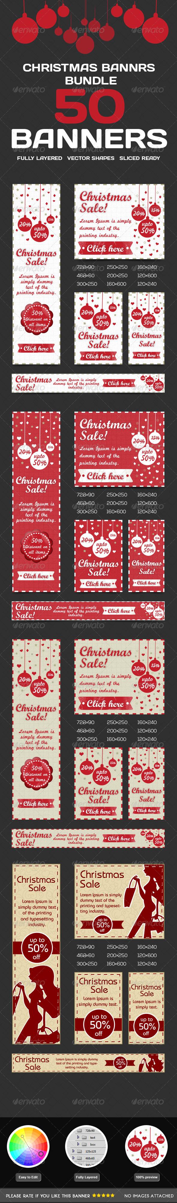 GraphicRiver Christmas Banner Bundle 6353285