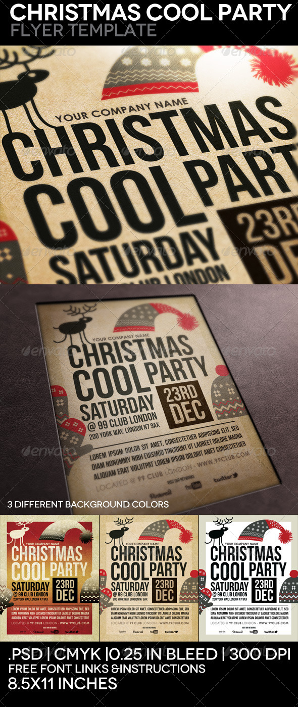 cool flyer templates christmas cool party flyer