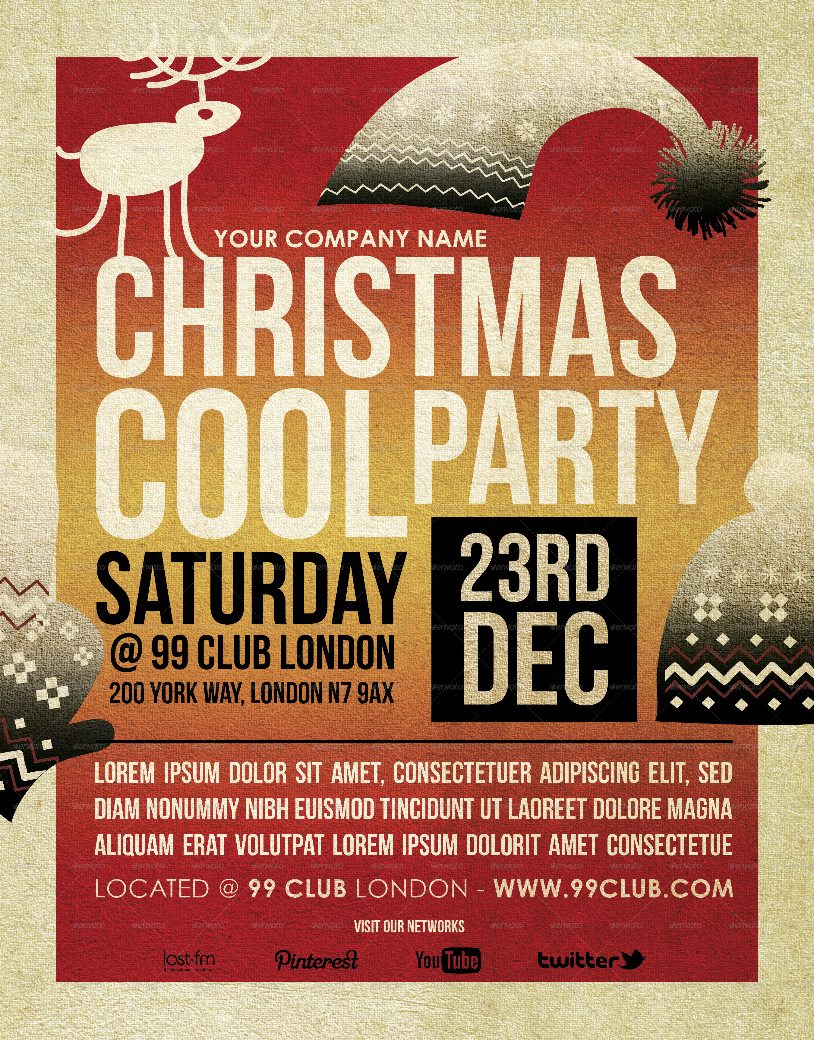 christmas cool party flyer template by blackinkbcn graphicriver christmas cool party flyer template events flyers middot preview1 jpg