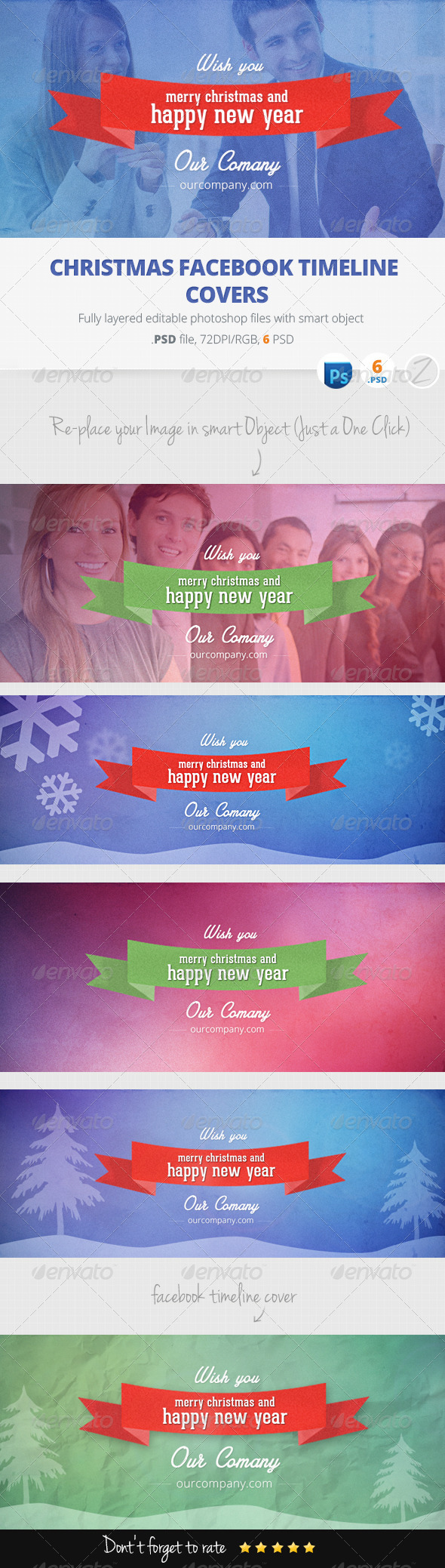 GraphicRiver New Year and Christmas Facebook Timeline Covers 6353306