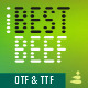 iBestBeef font