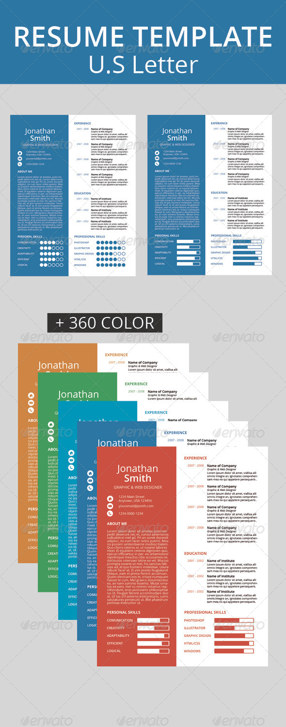 GraphicRiver Resume Template 6295875