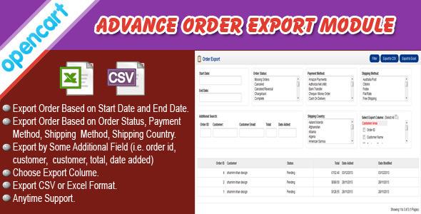 CodeCanyon Opencart Order Export Module 6353442