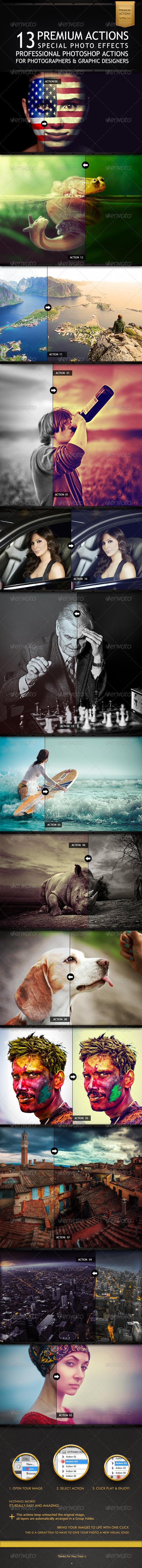 GraphicRiver 13 Premium Actions 6353443