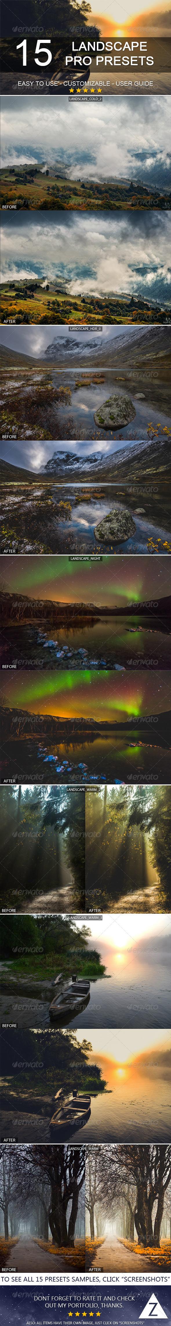 GraphicRiver 15 Pro Landscape Presets 6353457