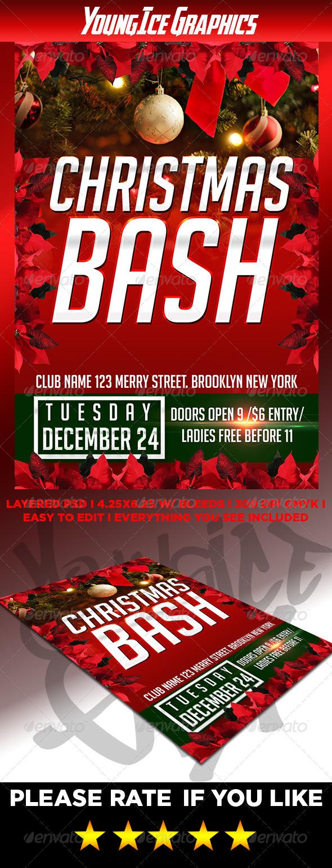 GraphicRiver Christmas Bash Flyer 6353668