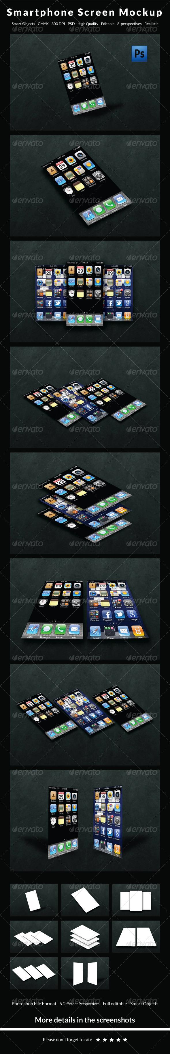 GraphicRiver Smartphone Screen Mockup 6353822