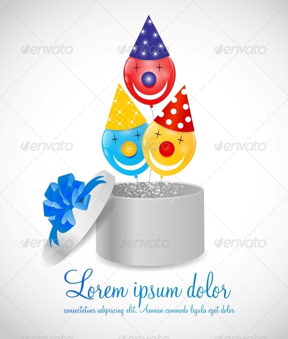 GraphicRiver Color Glossy Balloons Background 6353873