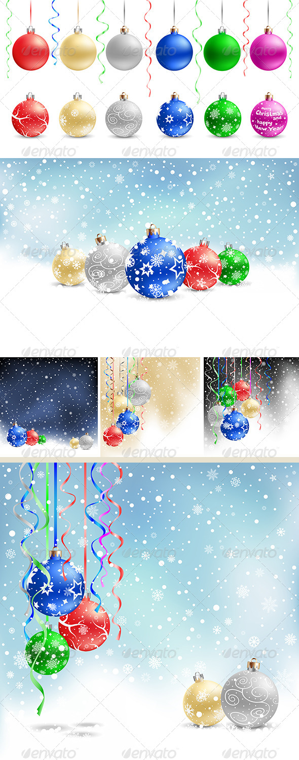 GraphicRiver Christmas Baubles 6353940