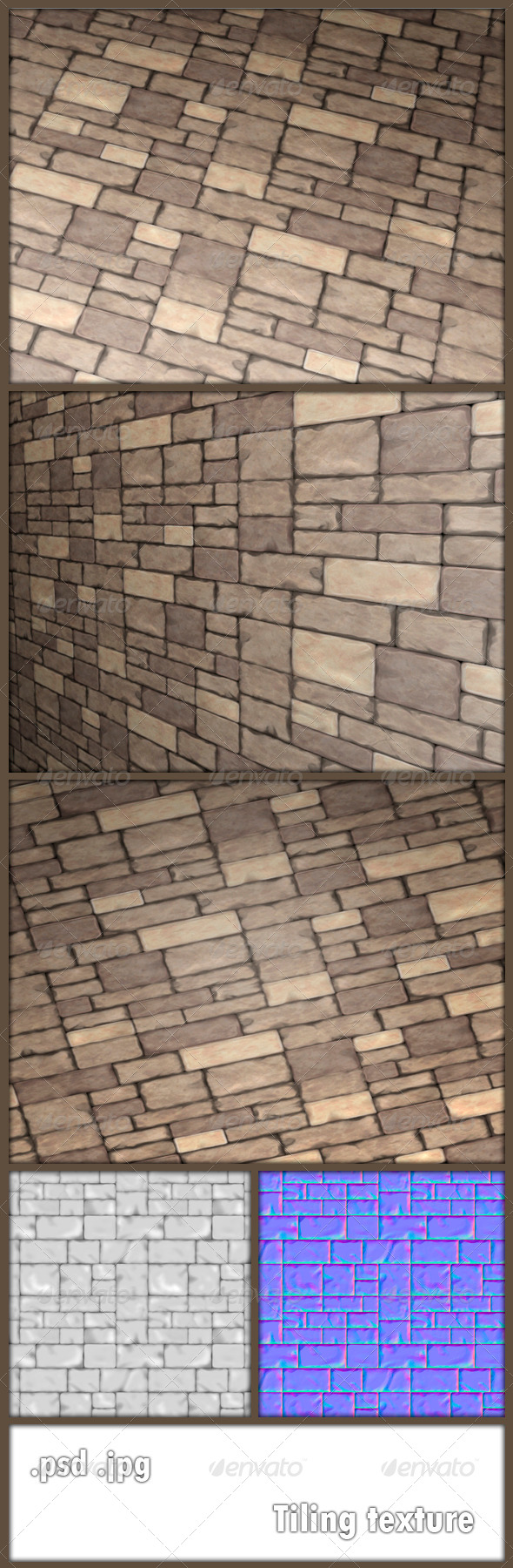 GraphicRiver Stone Tiling Texture 6353938