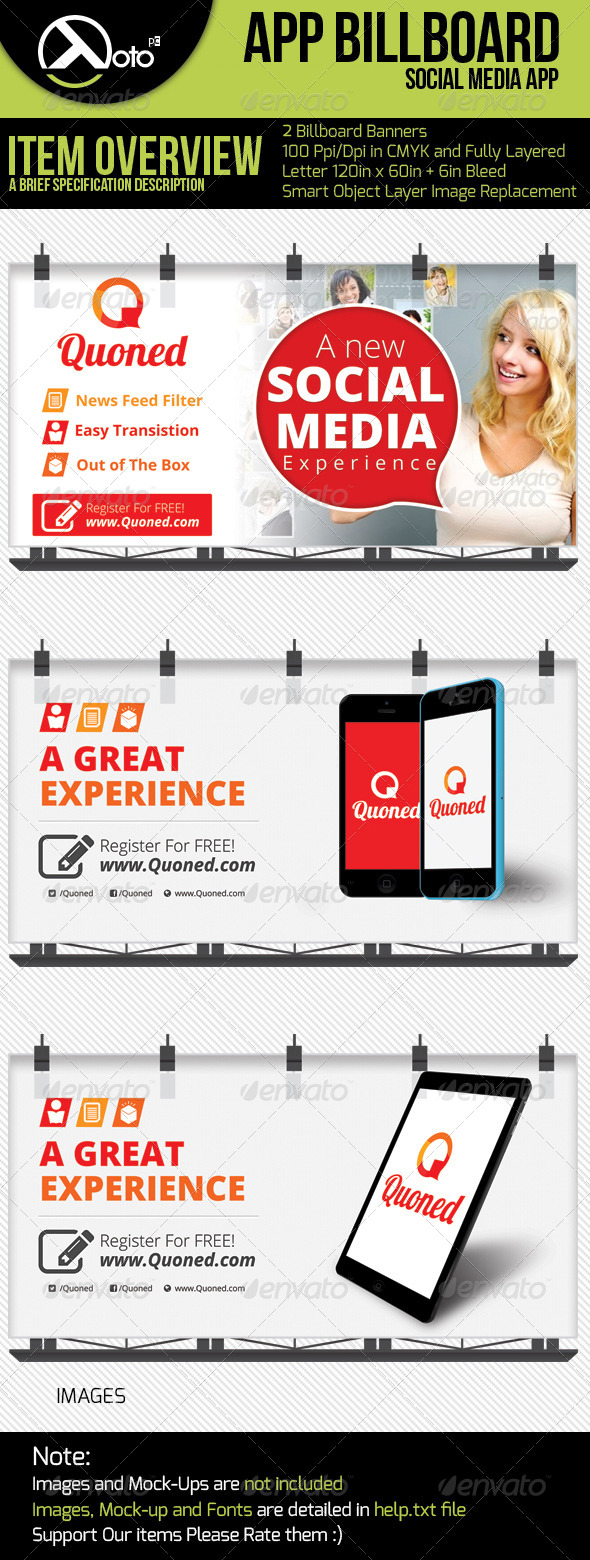 GraphicRiver Social App Billboard 6278420