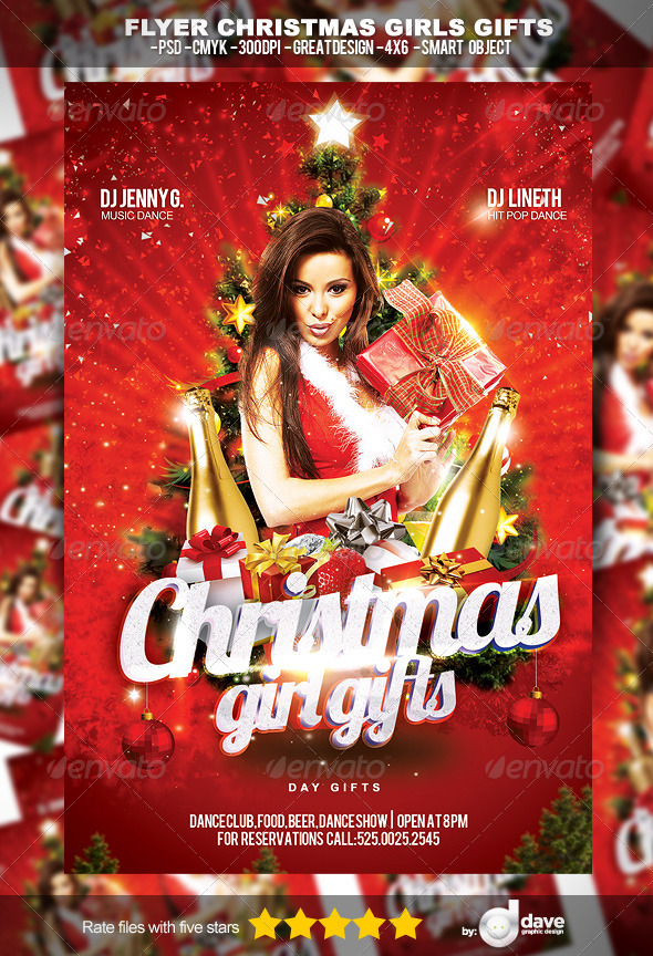 Flyer para Navidad Christmas Gift