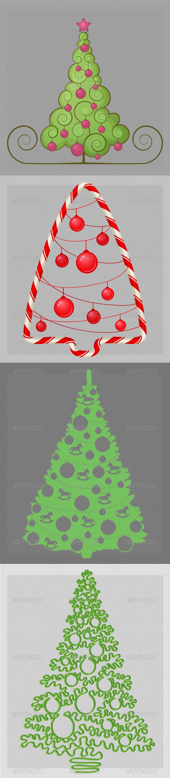 GraphicRiver Christmas Trees 6354110