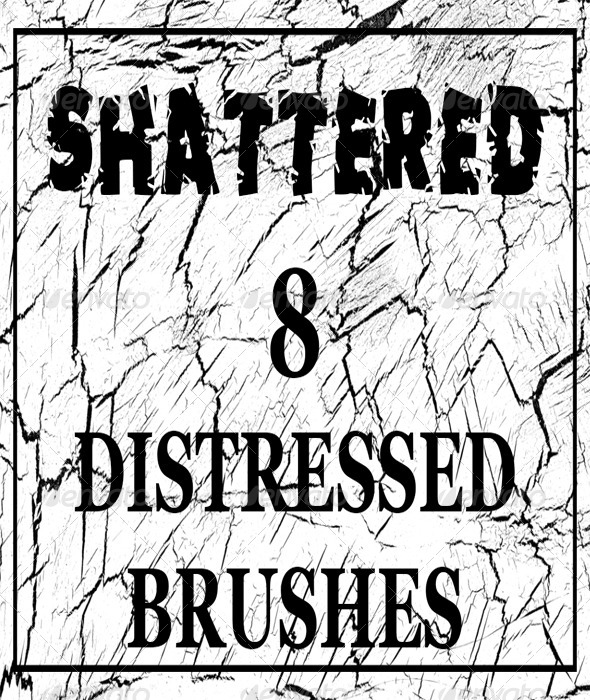 GraphicRiver Shattered 8 Distressed Brushes for Photoshop 6354120