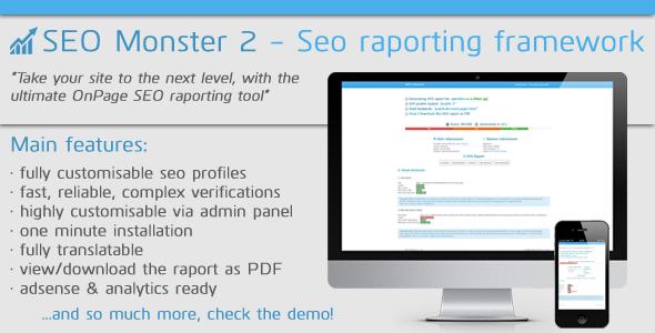 CodeCanyon SEO Monster 2 Seo Reporting Framework 6354263