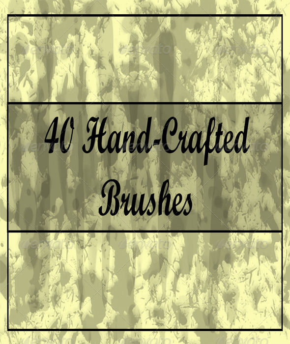 GraphicRiver 40 Hand-Crafted Brushes for Photoshop 6354365