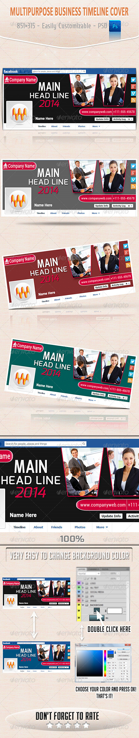 GraphicRiver Multipurpose Business Timeline Cover 6355671