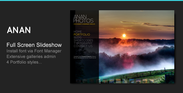 ANAN - For Photography Creative Portfolio