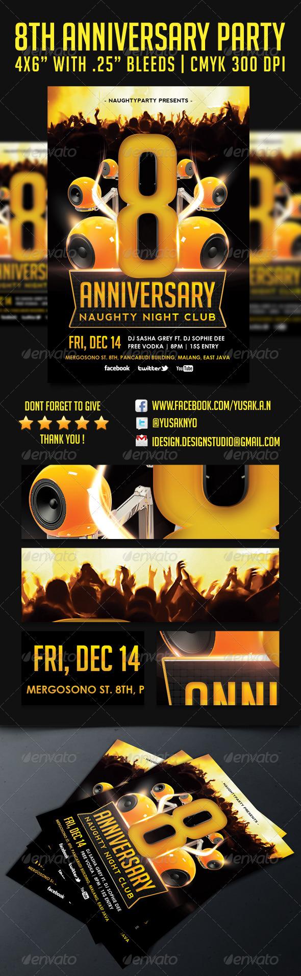 GraphicRiver 8th Anniversary Party 6355790