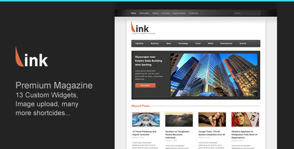 Link - Clean Magazine Blog Newspaper Template