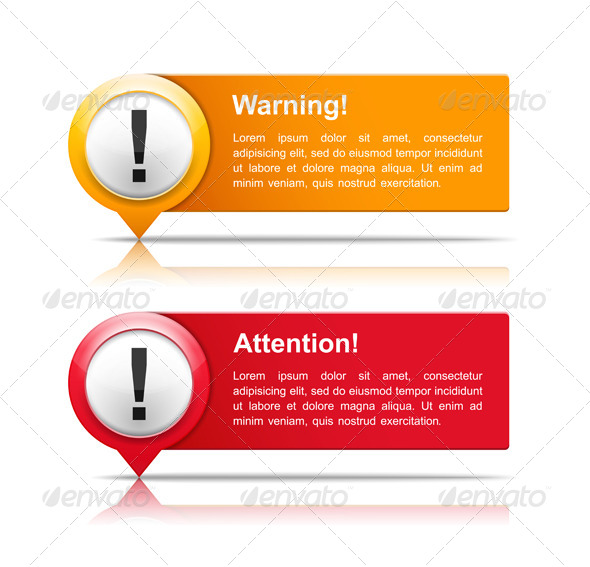 GraphicRiver Attention and Warning Banners 6355877
