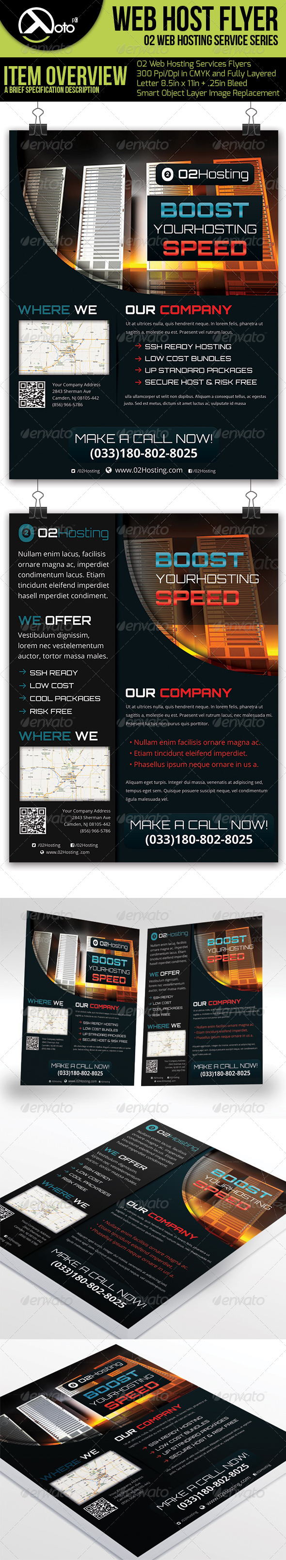 GraphicRiver 02 Web Hosting Service Flyers 6356008