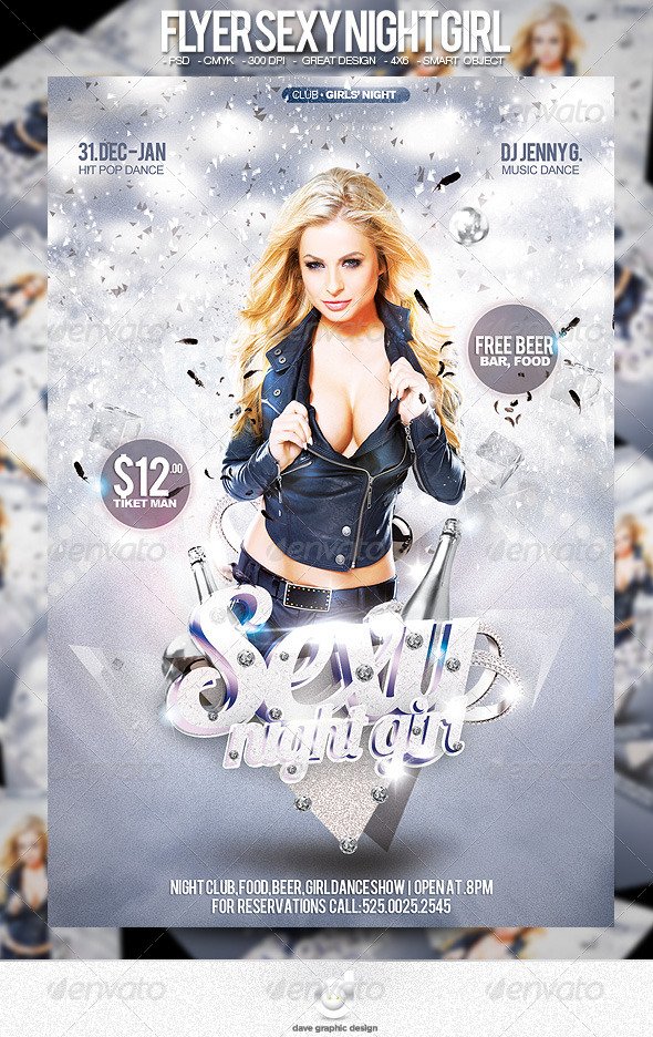 Flyer Sexy Night - Clubs & Parties Events