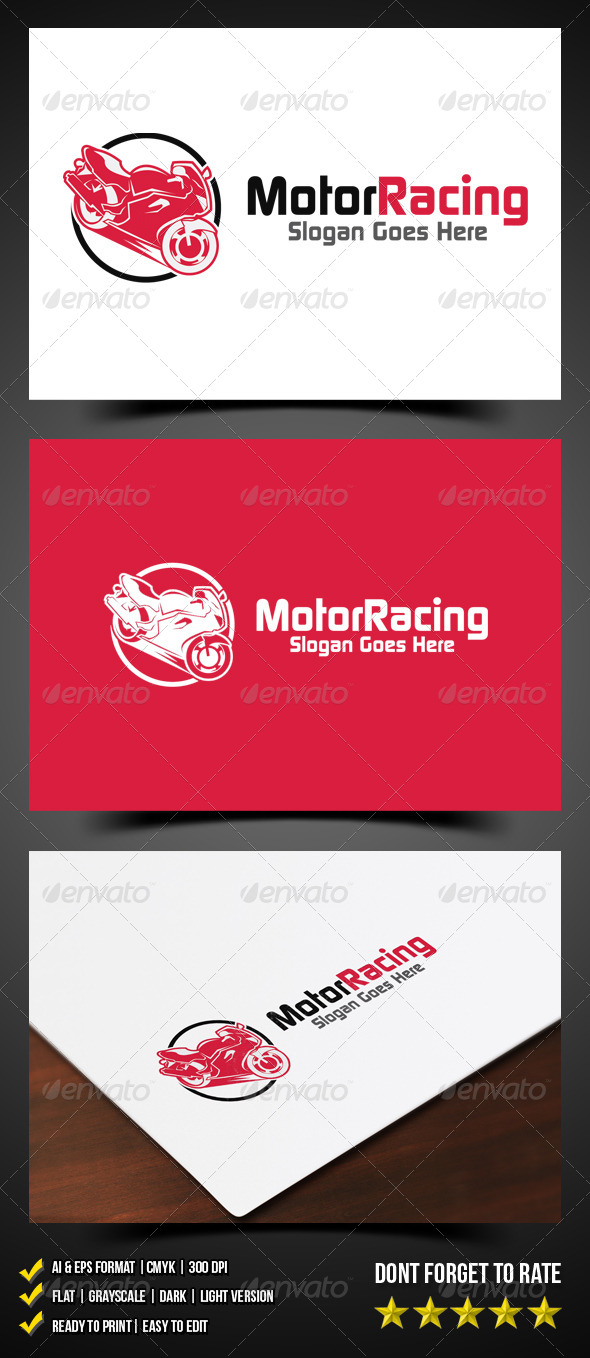 Motor Racing Logo - Objects Logo Templates