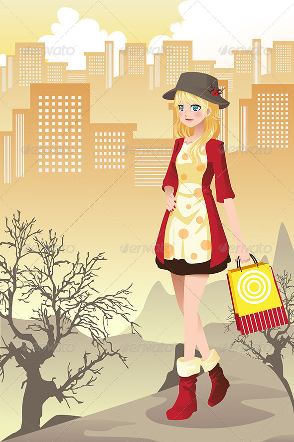 GraphicRiver Shopping Girl 6356381